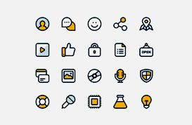 Flat Website Icon Set