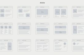 Sitemap Cards PSD Pack
