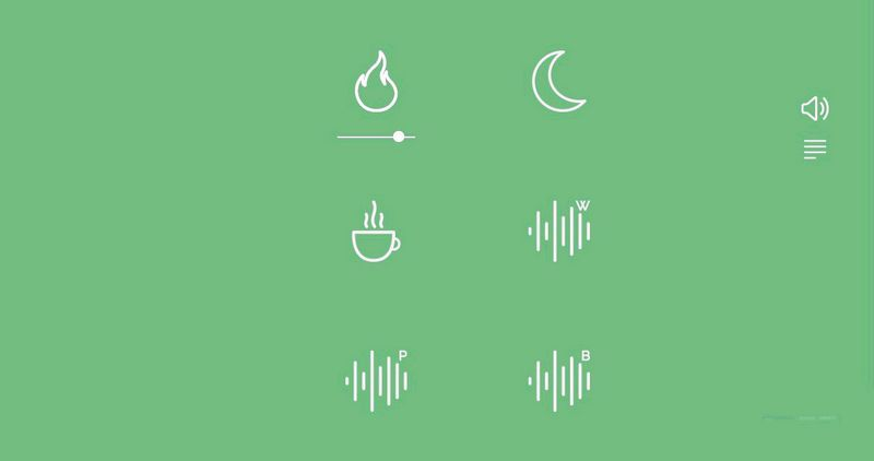 Screenshot of Noisli