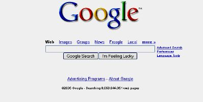 Google Search Engine History