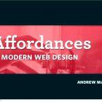 Affordances in modern website design