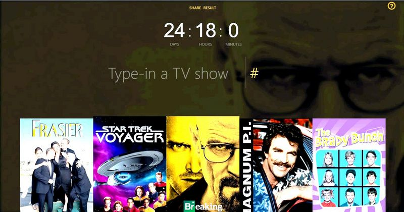 TV watching time calculator, accessed October 3, 2016, St. George News
