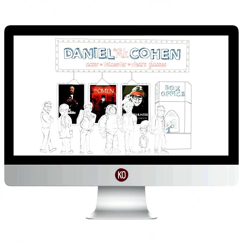 Daniel MK Cohen Actor and Voice Over Website Design