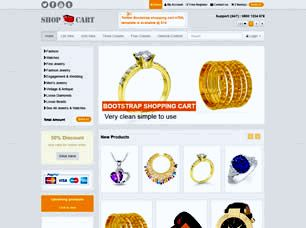 Shop Cart Free Website Template
