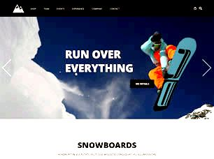 Snowboarding Free Website Template
