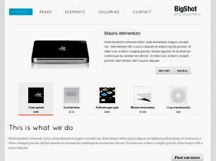 Bigshot Free Website Template