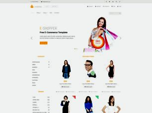 E Shopper Free Website Template