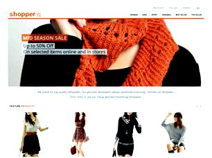Shopper Free Website Template