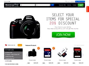 Bootstrap Shop Free Website Template