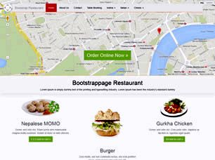 Bootstrap Restaurant Free Website Template
