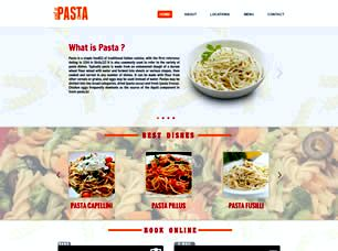 King of Pasta Free Website Template