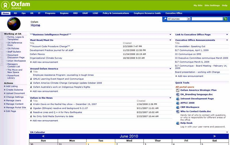 Modern website design for the similar old company intranet website design accessible
