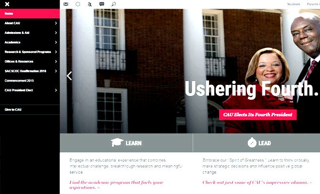 clark atlanta university homepage design