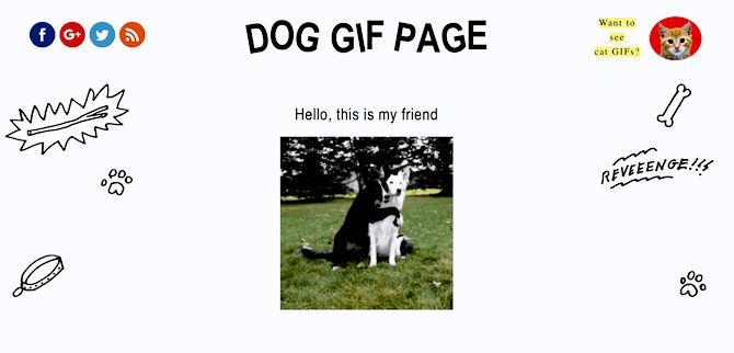 dog gif page