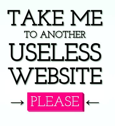 The useless web – for the it! Comments section